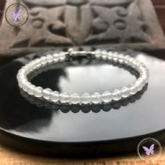 White Agate Beaded Bracelet